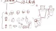 如何畫好人體體塊?漫畫人體體塊的詳細畫法!