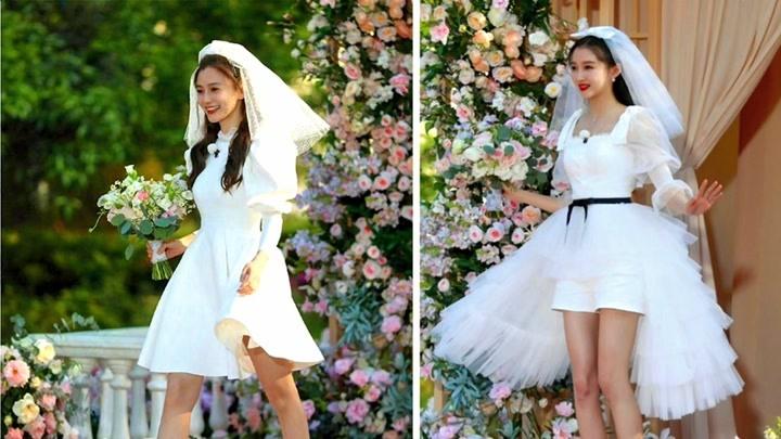 关晓彤和杨颖的婚纱造型,李晨邓超还有蔡徐坤变身新郎,谁更好看