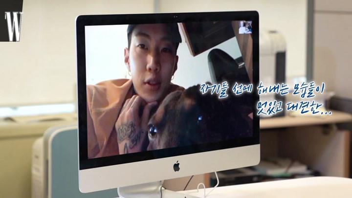 【樸宰范】社長帶著可愛的OSCAR現場facetime連線Groovyroom超爆笑互動!(W KOREA雜志采訪)
