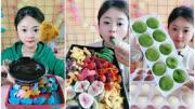 吃播小姐姐:吃脆皮百香果、秋葵脆、抹茶大福